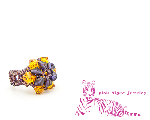 Orange and Purple Reversible Snowflake Ring